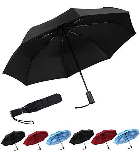 SY Compact Travel Umbrella Automatic Windproof Umbrellas Strong...