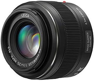 PANASONIC LUMIX G Leica DG SUMMILUX Lens, 25mm, F1.4 ASPH, Mirrorless Micro Four Thirds, H-X025 (USA Black)