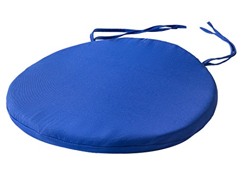 style4home Round Bistro Circular Chair Cushion With Ties Seat Pads For Dining Chairs Kitchen Garden Italian Fabric Removable Cover Indoor Outdoor Seat Pad Cushions Living Room Patio Office Shop BLUE