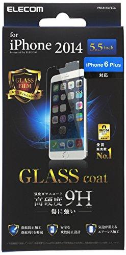 ELECOM iPhone6 Plus フィルム ガラスコートフィルム PM-A14LFLGL