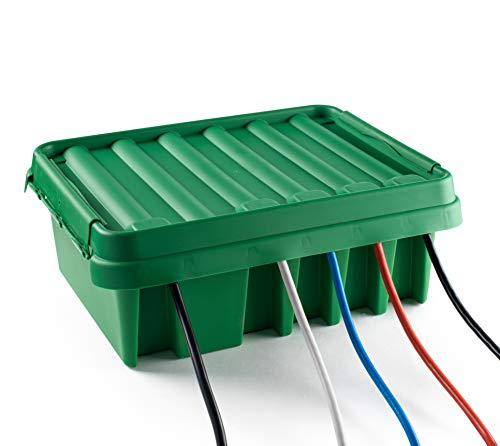 SOCKiTBOX – The Original Weatherproof Connection Box – Indoor & Outdoor Electrical Power Cord Enclosure for Timers, Extension Cables, Reels, Transformers, Power Strips, Lights & Tools – Large – Green