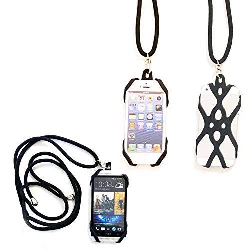 Handykette mit Band für Wiko Ridge Fab 4G Schutzhülle Umhängen Handy Hülle Cover Tasche Hülle Kordel Umhängeband