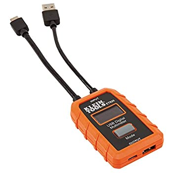 Klein Tools ET920 USB Power Meter USB-A and USB-C Digital Meter for Voltage Current Capacity Energy and Resistance