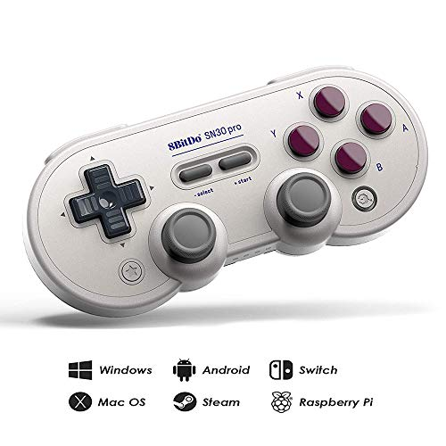 RunSnail 8Bitdo Sn30 Pro Bluetooth Gamepad (G Classic Edition) with Joysticks Rumble Vibration Gamepad for Windows, Mac OS, Android, Steam, Nintendo Switch, etc