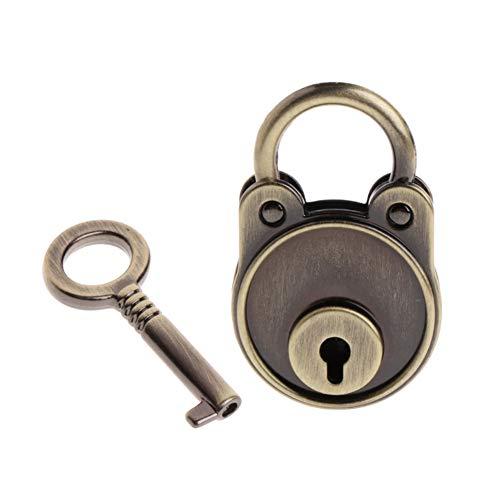 FULANTE Vintage hangslot oude stijl slot, Notebook bagage met antieke bronzen Plated hangslot en sleutel koffer slot hardware