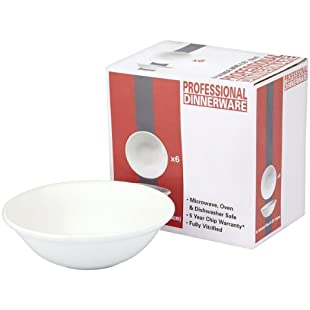 "Professional Dinnerware Oatmeal Bowl 6 x 6.25"" (16cm) (Pack of 6 x 6s)"