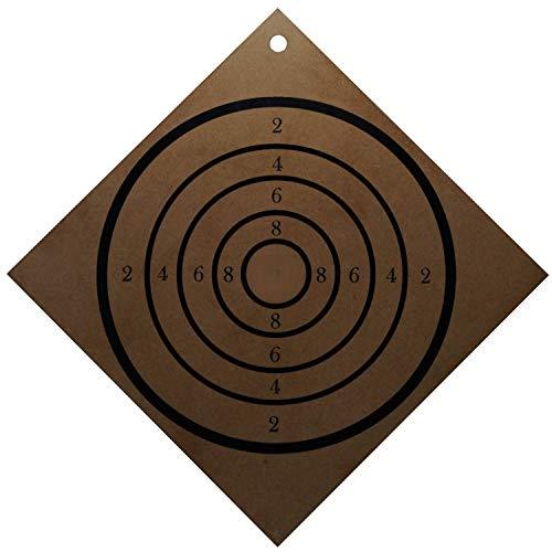 kabemi Zielscheibe aus Holz, klar lackiert, Bedruckt, 30 x 30 cm für Saugnapfgeschosse