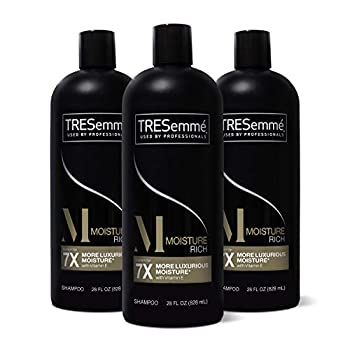 TRESemmé Shampoo for Dry Hair Moisture Rich Professional Quality Salon-Healthy Look and Shine Moisture Rich Formulated with Vitamin E and Biotin 28 oz 3 Count