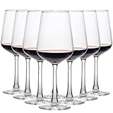 CREST Red Wine Glasses 435 ml, Wine Gift Set, Elegant Crystal Glasses