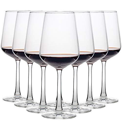 CREST Copas de Vino Tinto, 8 Piezas, 435 ML, Vaso de Cristal, Uso en Casa,...