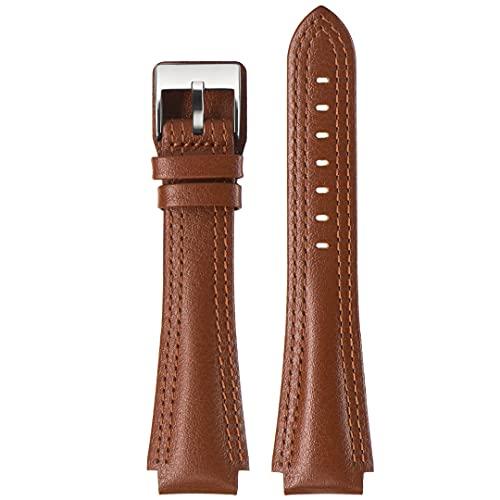 Uhrenarmband aus echtem Leder, Stailer Premium Navigator Collection, Uhrenarmbänder, Italienisches Nappaleder, Ersatzarmband 26mm 24mm 22mm 20mm, Edelstahl mit Metall Schließe für Herren und Damen