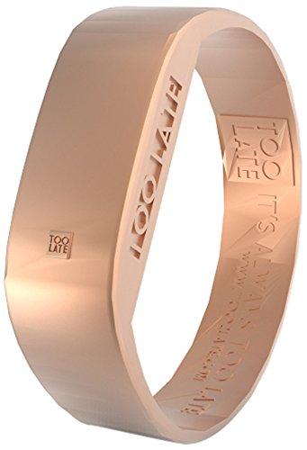 too 2 late Unisex Erwachsene Analog-Digital Uhr mit Silikon Armband LED Rosegold S