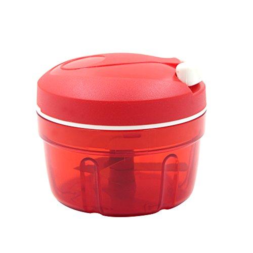 CNFQ Ustensiles de Cuisine Shredder Hachoir à Légumes Hachoir Manuel (Rouge)