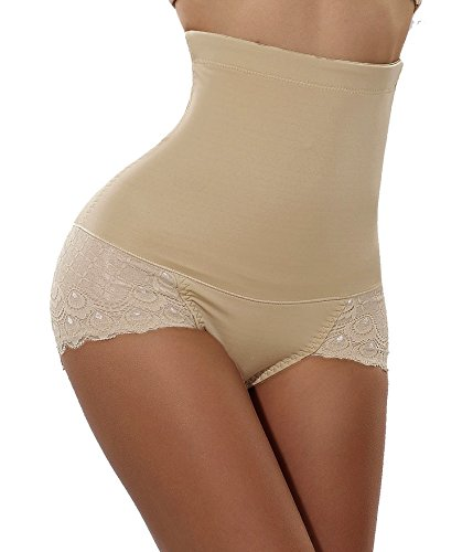 Gotoly Women Body Shaper High Waist Butt Lifter Tummy Control Panty Slim Waist Trainer (Large (FBA), Beige(Super Comfy))