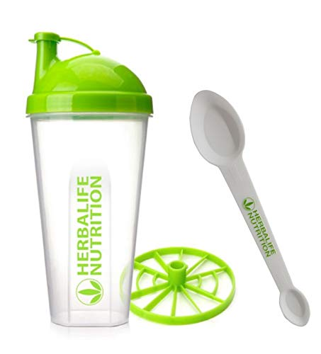 Herbalife Shaker Bottle 13.5-Ounce(400ml) with Blender and Herbalife Spoon 1 Pack