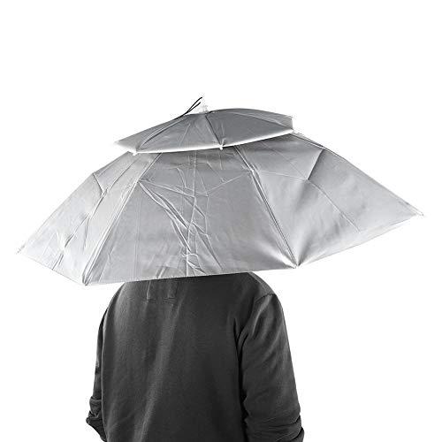 Hoofddekselparaplu, grote anti-uv opvouwbare visserij Hoofddeksels Paraplu Hoed Handvrije paraplu voor buitenvissen Tuinieren Strandgolf