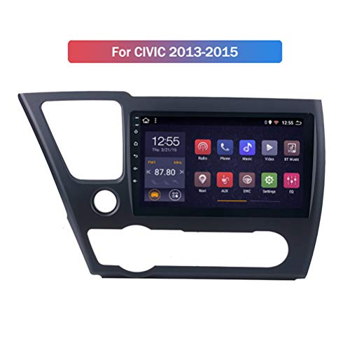 HP CAMP Android 9.1 Octa Core Navigazione GPS per Honda Civic 2014-2017, Auto Multimedia Supporta BT/Mirror Link/USB/SWC/Fotocamera Posteriore/FM/Google Map,WiFi 2g+32g