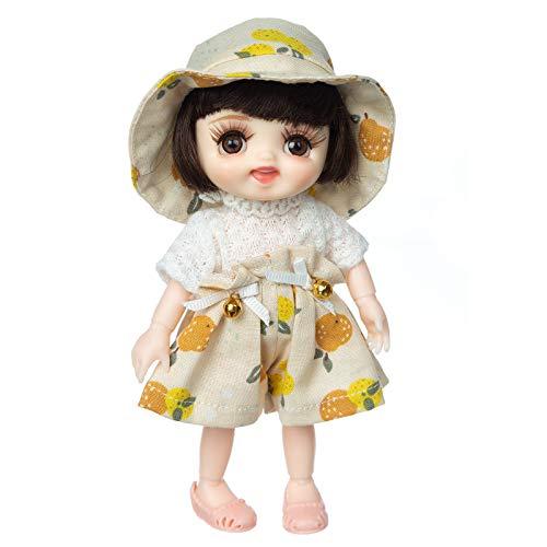 Transwen Modische Puppe   Beste Spielzeuge für Mädchen & Jungen   mit schönen Kleidern und b endbaren Händen und Füßen Fashionista Dolls mit Festival Vibe (C)