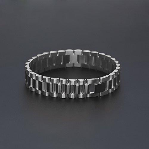 RENYZ.ZKHN renyz. zkhn Exquisite Edelstahl-Kette Männer Solide Edelstahl Armband Exquisite Edelstahl-Kette, Edelstahl-Kette, exquisite-Kette, Silberfarben