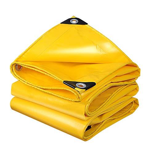 HnF Abdeckzelt, 10 x 12 Fuß schwere 12 Mil Yellow Depot Sonnenschirme, Mehrzweckschutz-Polyplane, langlebig, wasserdicht, wasserdicht
