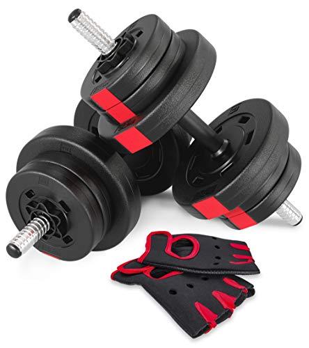 Hop-Sport Kurzhanteln Hantel Set Hanteln 20kg 30kg 40kg Gewichte (2 x 10 kg)