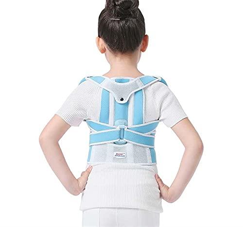 DJDEFK Correcteur de Posture Enfants Bosse Courrection Correction Posture Correcteur Épaule Spine Back Brace Support Courroie Corset for Kid Enfants Girl Garçon Étudiants (Color : Blue, Size : M)