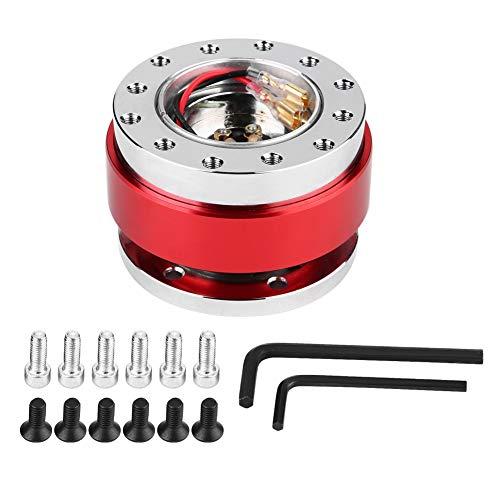 Lenkrad Auto Lenkradnabe Schnellwechseladapter Snap Off Kit mit Schrauben(rot)