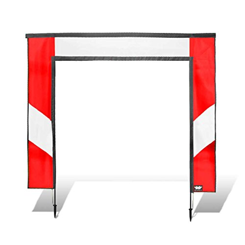 Premier RC 5 x 5 ft. Square Air Race Gate for FPV Drone Racing - Red and White