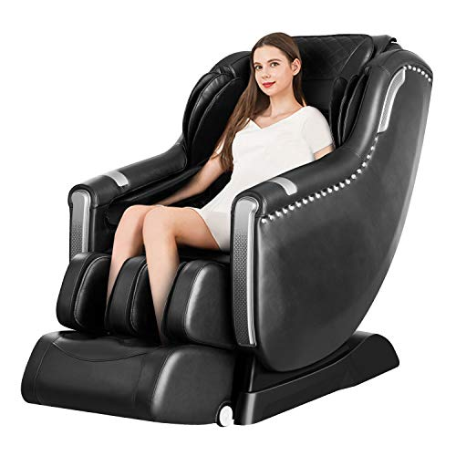 OOTORI Massage Chair Recliner, Zero Gravity Full Body SL-Track, Shiatsu Electric Massage Chair with Stretching Tapping Heating Yoga Massage Back and Foot Massagers (black)