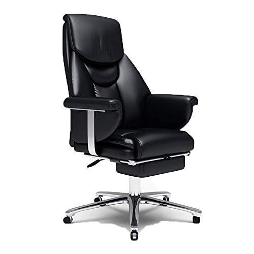 ViewSys Silla de oficina, Silla giratoria jefe silla, silla ergonómica de oficina ejecutiva, de cuero de gran capacidad giratoria de altura regulable acolchado grueso, conveniente for el hogar y la of