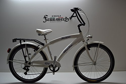Cicli Ferrareis Bici Cruiser Bicicletta Chopper 26 6v in Alluminio Personalizzabile