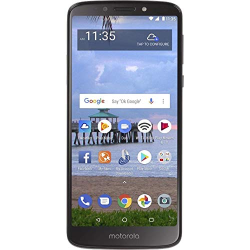 Moto E5 (2018) 16GB, 2GB 5.7' Display, 4000 mAh All Day Battery, FM Radio - (GSM+AT&T+Tmobile + Verizon) Factory Unlocked 4G LTE Smartphone - XT1920DL (US Warranty) (Gray)