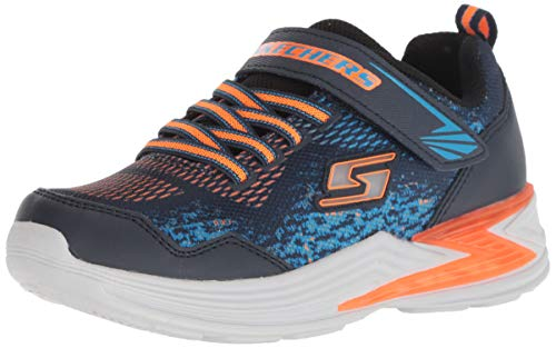 Skechers Boys' Erupters III-DERLO Trainers, Blue (Navy Mesh/Synthetic/Orange & Blue Trim Nvor), 13 (32 EU)