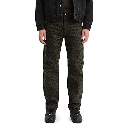 Levi's 501 Original Shrink-to-Fit Jean Jeans, Bubble Cheetah Antracita - Stf, 40W/32L para Hombre