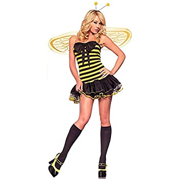Adult Sexy Bumble Bee Halloween Costume  Large