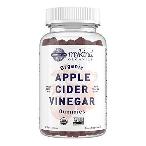 Apple Cider Vinegar Gummies by Garden of Life mykind Organics – USDA Organic ACV Gummy Vitamins made with Real Fruit Blend, Whole Food Vitamin B12 - Vegan, Gluten Free, Non-GMO, Kosher - 60 Gummies