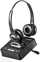Leitner OfficeAlly LH275 Dual-Ear Wireless Office Telephone Headset with Noise Canceling Microphone - Works with Cisco, Polycom, Yealink, Avaya, Softphones, VoIP, Skype, Teams, 99% of Office Phones