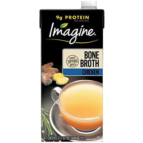 Imagine Organic Bone Broth, Chicken, 32 Oz (Pack of 12)