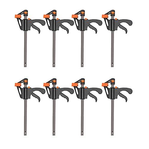 4 pulgadas 2/3/4/5/10pcs Trabajo de carpintería Barra de trabajo F Set Hard Quick Ratchet Lanzamiento BRICOLAJE Mano de carpintería Herramienta Gadget (Color : 4Inch 8Pcs)