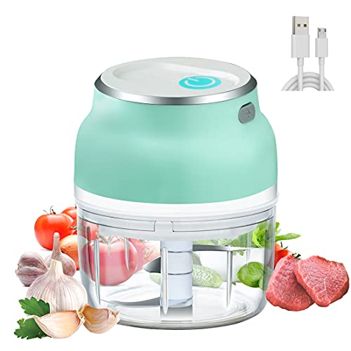 MIGECON Mini Chopper Vegetable Cutter Electric Chopper Mini Food Chopper with USB Portable Small Food Processor for Garlic/Chili/Ginger/Onion Gift