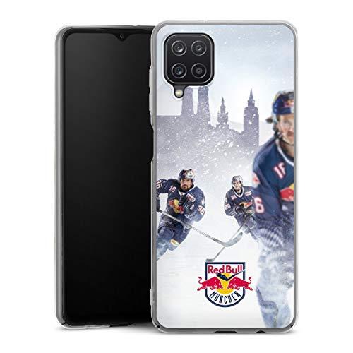 DeinDesign Hard Case kompatibel mit Samsung Galaxy A12 Schutzhülle transparent Smartphone Backcover EHC Red Bull München Offizielles Lizenzprodukt Eishockey