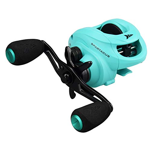 KastKing Spartacus Baitcasting Fishing Reel,Seafoam Green,Right Handed Reel