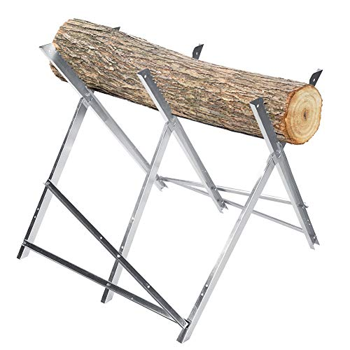 Purchase Cocoarm Folding Saw Horse Metal Log Cutting Stand Log Splitter 150kg Capacity Firewood Logg...