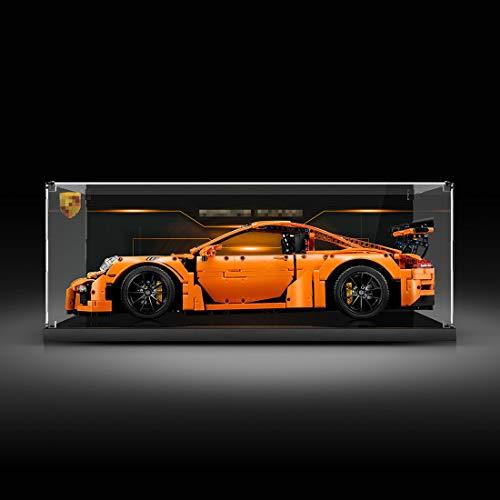 YDDY Schaukasten für Lego Technik Porsche 911 GT3 RS 42056 Acryl Vitrine Lego Technik (Nicht Enthalten Lego Modell)