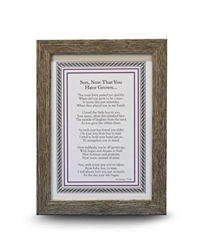 Son, Now That You're Grown- Gift for Son from Mom/Dad on Wedding Day, Graduation, New Job, Milestone Birthday