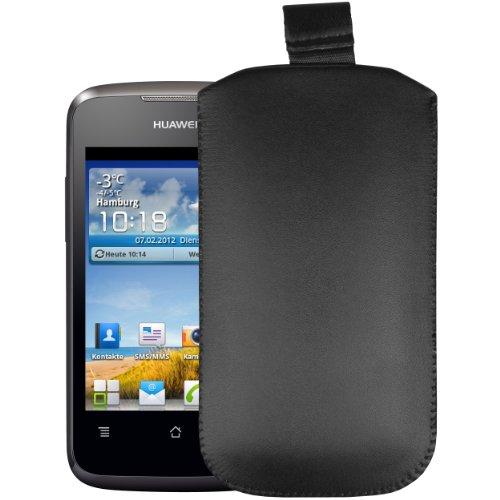 mumbi Tasche Huawei Ascend Y200 Leder Hülle Etui - Lasche mit Ausziehhilfe