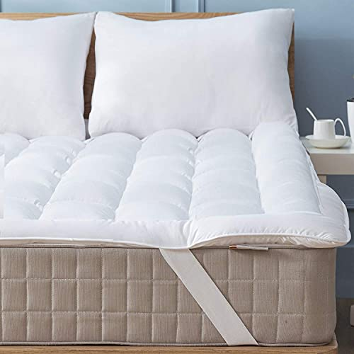 Mattress Topper Twin 39x75 Quilted Down Alternative Anchor Band 4 Corner Elastic Protector Enhancer...