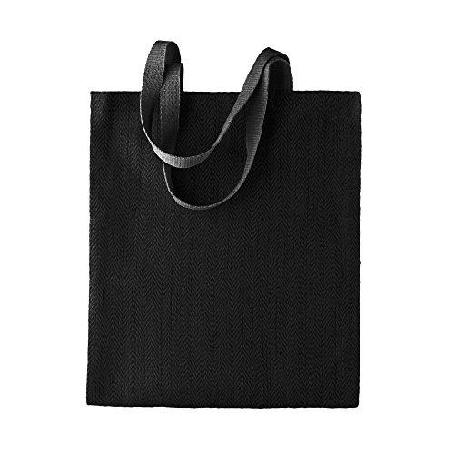 KiMood - Bolsa de yute con diseño para mujer (Paquete de 2) (Talla Única) (Negro) ✅