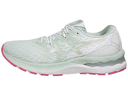 ASICS Women's Gel-Nimbus 23 Running Shoes, 11.5M, Lichen Rock/Champagne
