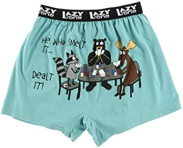 Lazy One Funny Animal Boxers Novelty Boxer Shorts Humorous Underwear Gag Gifts for Men Moose product image